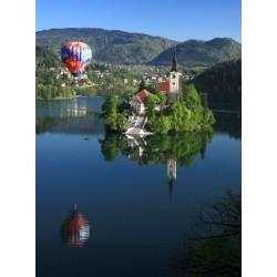 Polet z balonom nad Bledom